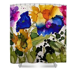Poppy Party Shower Curtain