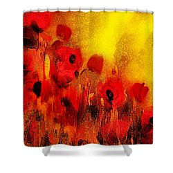 Shower Curtain featuring the painting Poppy Reverie by Valerie Anne Kelly