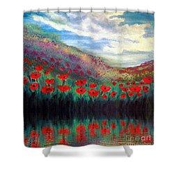 Poppy Wonderland Shower Curtain by Holly Martinson