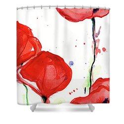 Poppyred Shower Curtain