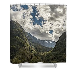 Shower Curtain featuring the photograph Pop's View Lookout by Gary Eason