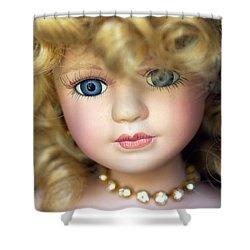 Porcelain Doll Shower Curtain by Joseph Skompski
