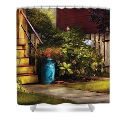 Porch - Summer Retreat Shower Curtain by Mike Savad