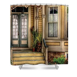 Porch - House 109 Shower Curtain by Mike Savad