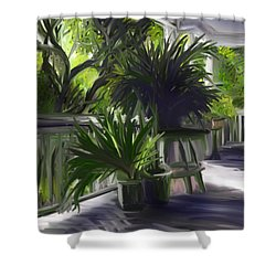 Porch Jungle Shower Curtain