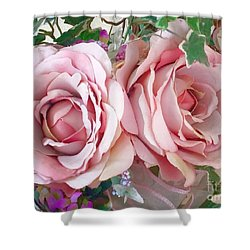 Porch Roses Shower Curtain