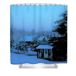 Porch Setting, Not Today Shower Curtain
