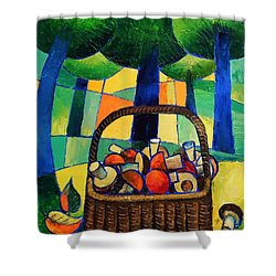 Shower Curtain featuring the painting Porcini by Mikhail Zarovny