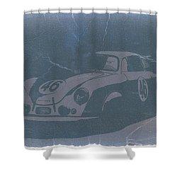 Porsche 356 Coupe Front Shower Curtain by Naxart Studio