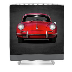 Porsche 356 Shower Curtain by Mark Rogan