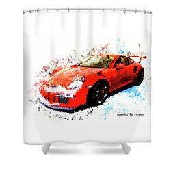 Porsche 911 Gts Shower Curtain by Roger Lighterness
