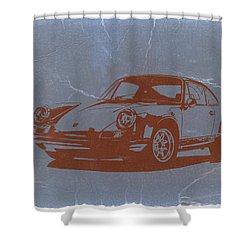 Porsche 911 Shower Curtain by Naxart Studio