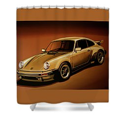 Porsche 911 Turbo 1976 Painting Shower Curtain