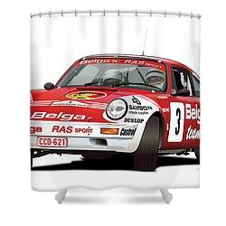 Porsche 911 Sc Rs Belga Team Shower Curtain by Alain Jamar