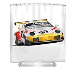 Porsche 911 Turbo Custom Shower Curtain