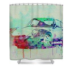 Porsche 911 Watercolor 2 Shower Curtain