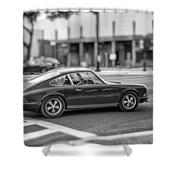 Shower Curtain featuring the photograph Porsche 911e by Howard Salmon
