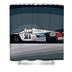 Porsche 917 Longtail 1971 Shower Curtain