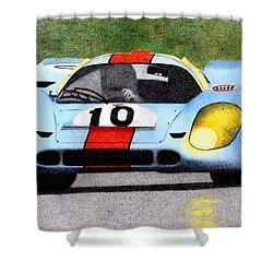 Porsche 917k Pedro Rodriguez 1970 Shower Curtain by Ugo Capeto