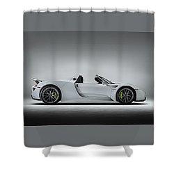 Porsche 918 Spyder Shower Curtain