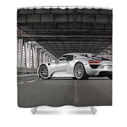 Shower Curtain featuring the photograph Porsche 918 Spyder by ItzKirb Photography