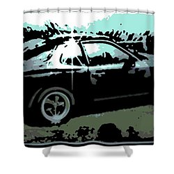 Porsche 944 Shower Curtain by George Pedro
