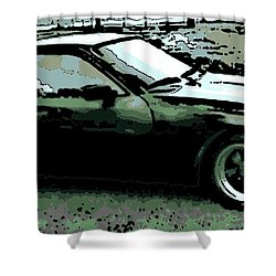 Porsche 944 On A Hot Afternoon Shower Curtain by George Pedro