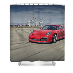 Shower Curtain featuring the photograph Porsche 991 Gt3 by ItzKirb Photography