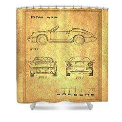 Porsche Blueprint Shower Curtain