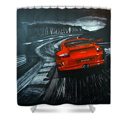 Porsche Gt3 Le Mans Shower Curtain