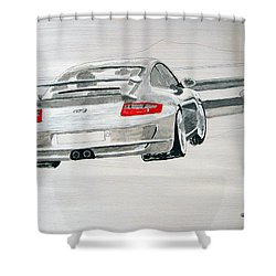 Porsche Gt3 Shower Curtain