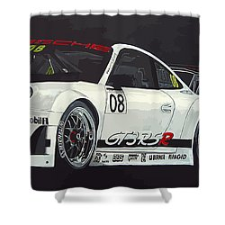 Porsche Gt3 Rsr Shower Curtain