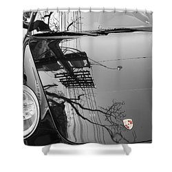 Porsche Reflections Shower Curtain by Andrew Fare
