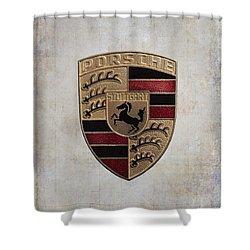 Porsche Shield Shower Curtain
