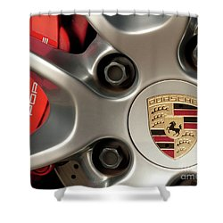 Porsche Wheel Detail #1 Shower Curtain