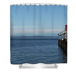 Port 70, Seattle Shower Curtain