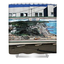 Port Angeles 1914 Mural Shower Curtain by David Lee Thompson