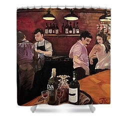 Port Bar Shower Curtain by Julie Todd-Cundiff