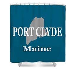 Shower Curtain featuring the photograph Port Clyde Maine State City And Town Pride  by Keith Webber Jr