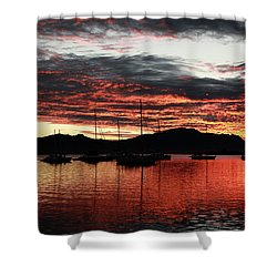 Port Denarau Fiji At Sunrise Shower Curtain