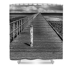 Port Germein Long Jetty Shower Curtain