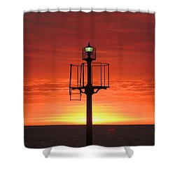 Port Hughes Lookout Shower Curtain by Linda Hollis