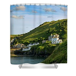 Shower Curtain featuring the photograph Port Issac Hills by Brian Jannsen