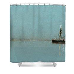 Port Light Shower Curtain by John Atkinson Grimshaw