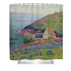 Port Manech Shower Curtain by Henry Moret