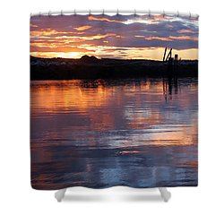 Shower Curtain featuring the photograph Port Mcneill Sunset by Myrna Bradshaw