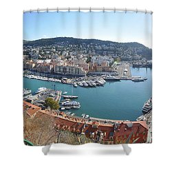 Shower Curtain featuring the photograph Port Nice Panorama by Yhun Suarez