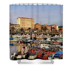 Shower Curtain featuring the photograph Port Of Ferrol Galicia Spain by Pablo Avanzini
