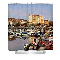 Port Of Ferrol Galicia Spain Shower Curtain