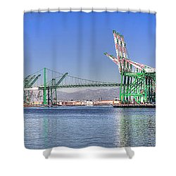 Port Of Los Angeles - Panoramic Shower Curtain